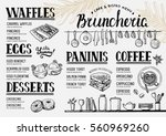 food menu for restaurant and... | Shutterstock .eps vector #560969260