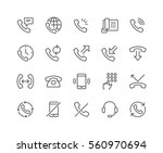 simple set of phone related... | Shutterstock .eps vector #560970694