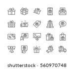 simple set of gifts related... | Shutterstock .eps vector #560970748