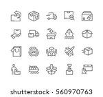 simple set of delivery related... | Shutterstock .eps vector #560970763