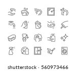 simple set of cleaning related... | Shutterstock .eps vector #560973466