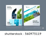 business vector. brochure... | Shutterstock .eps vector #560975119