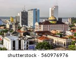 View of Manaus with Teatro Amazonas, Brazil