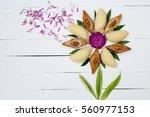 flower made from national...   Shutterstock . vector #560977153