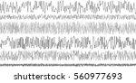 set of seismic waves... | Shutterstock .eps vector #560977693