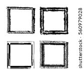 set of white ink grunge frames... | Shutterstock .eps vector #560979028