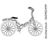 Fantasy Abstract Bicycle  On A...