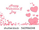 valentines day background... | Shutterstock .eps vector #560986048