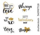 happy valentines day... | Shutterstock .eps vector #560987518