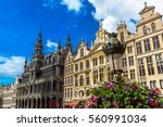 the grand place in brussels in... | Shutterstock . vector #560991034