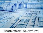 architectural project   | Shutterstock . vector #560994694