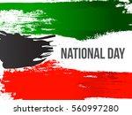 kuwait happy national day... | Shutterstock .eps vector #560997280