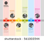vector colorful infographic... | Shutterstock .eps vector #561003544