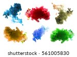 collection of acrylic colors in ... | Shutterstock . vector #561005830
