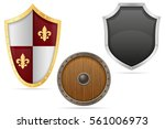 Battle Shield Medieval Stock...