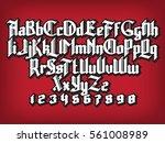 new modern custom gothic font.... | Shutterstock .eps vector #561008989