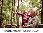 granddaughter with cute little... | Shutterstock . vector #561010969