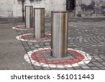 retractable electric bollard... | Shutterstock . vector #561011443
