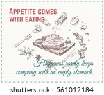 sketches meat dishes   steak.... | Shutterstock .eps vector #561012184