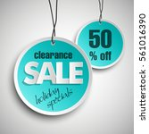 holiday specials clearance sale ... | Shutterstock .eps vector #561016390