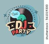 dj cool party poster design... | Shutterstock .eps vector #561019300