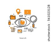 document search flat line... | Shutterstock .eps vector #561023128