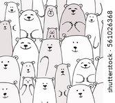 bears family  seamless pattern... | Shutterstock .eps vector #561026368