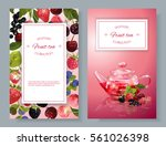 vector fruit tea banners with... | Shutterstock .eps vector #561026398