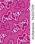 valentine's day pattern with...   Shutterstock .eps vector #561027259