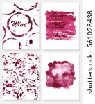 set of hand painted cards.... | Shutterstock .eps vector #561028438