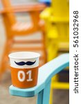 Mustache Blank Paper Coffee Cu...