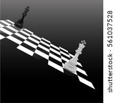 abstract chess | Shutterstock .eps vector #561037528