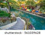 river walk in san antonio ... | Shutterstock . vector #561039628