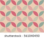 abstract seamless retro circle... | Shutterstock .eps vector #561040450