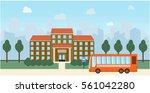 bright flat illustration of... | Shutterstock .eps vector #561042280