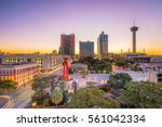 top view of downtown san... | Shutterstock . vector #561042334