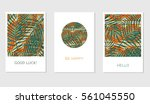 set of creative cards with... | Shutterstock .eps vector #561045550