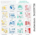 infographics mini concept... | Shutterstock .eps vector #561059758