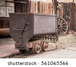 Metal Mining Cart For Silver...