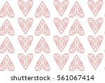 pattern with hearts for... | Shutterstock .eps vector #561067414
