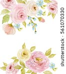 painted watercolor composition... | Shutterstock . vector #561070330