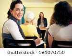 women only seminar | Shutterstock . vector #561070750