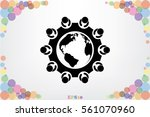 people around the table icon... | Shutterstock .eps vector #561070960