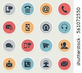 set of 16 simple connect icons. ... | Shutterstock .eps vector #561072550