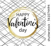 happy valentines day. gold...   Shutterstock .eps vector #561074494