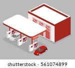 isometric flat 3d concept...   Shutterstock . vector #561074899