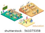 isometric flat 3d isolated... | Shutterstock . vector #561075358