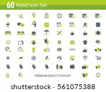 hotel icon set   hotel... | Shutterstock .eps vector #561075388