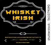 whiskey irish vintage font... | Shutterstock .eps vector #561079090