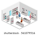 isometric flat 3d isolated... | Shutterstock . vector #561079516